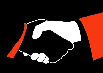 virtuális asszisztens együttműködés kézfogás